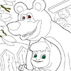 Маша и Медведь: Красим Забор