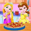 Малышки Рапунцель и Бель Готовят Пиццу