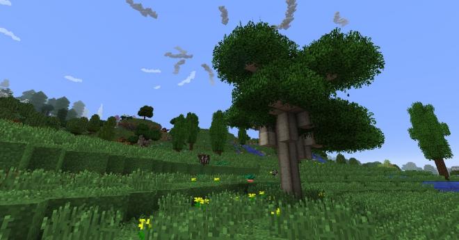 мод на майнкрафт 1.7.10 если срубить дерево #4