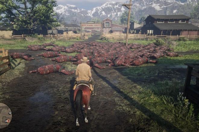 Red Dead Online напугала игроков мертвыми животными и пустынными улицами